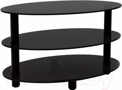 Журнальный столик Artglass Olivia (серый/черный)
