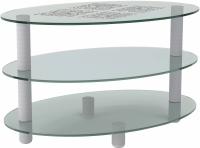 Журнальный столик Artglass Olivia Ромб -
