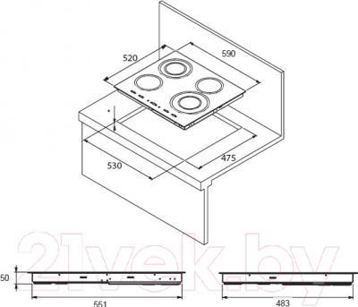 Индукционная варочная панель Kuppersberg FA6IF01 Bronze