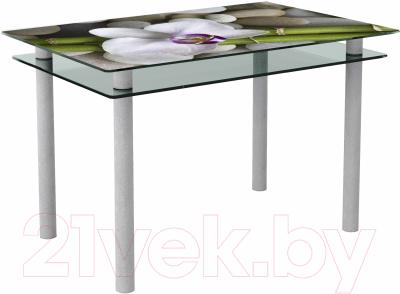 Обеденный стол Artglass Сказка Орхидея белая