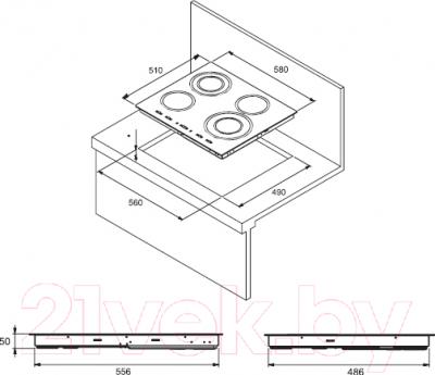 Электрическая варочная панель Kuppersberg FT6VS09
