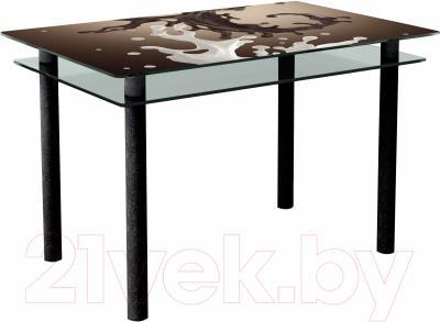 Обеденный стол Artglass Сказка Школад (черный)