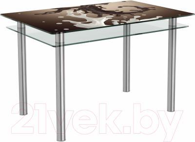 Обеденный стол Artglass Сказка Школад (хром)