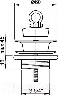 Выпуск (донный клапан) Alcaplast A439