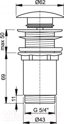 Выпуск (донный клапан) Alcaplast A395