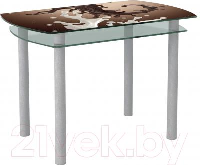 Обеденный стол Artglass Октава Шоколад