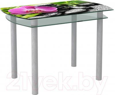 Обеденный стол Artglass Октава Орхидея розовая