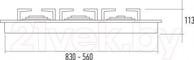 Газовая варочная панель Kuppersberg FQ7TG S