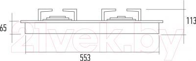Газовая варочная панель Kuppersberg FQ6TG L