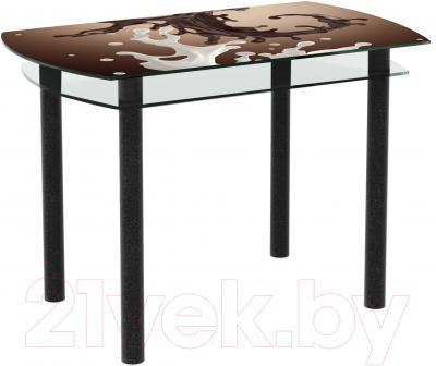 Обеденный стол Artglass Октава Шоколад (черный)