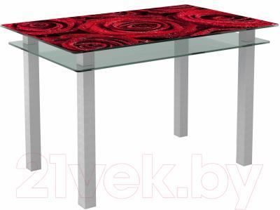 Обеденный стол Artglass Кристалл Розы