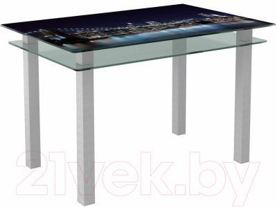 Обеденный стол Artglass Кристалл Ночной город