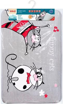 Коврик для ванной Tatkraft Funny Cats Ultra Soft 18334