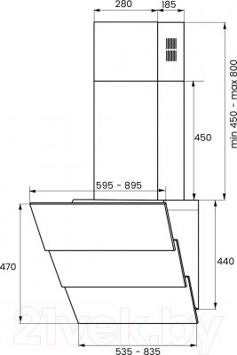 Вытяжка декоративная Kuppersberg F 625 BL