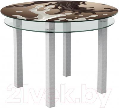 Обеденный стол Artglass Ringo Cristal Шоколад