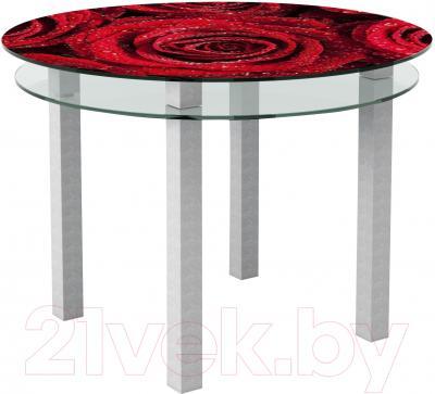 Обеденный стол Artglass Ringo Cristal Розы