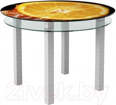 Обеденный стол Artglass Ringo Cristal Апельсин