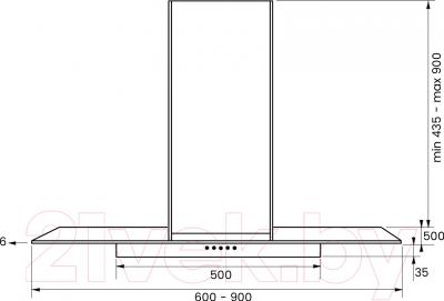 Вытяжка Т-образная Kuppersberg Lora 60 X 4HPB