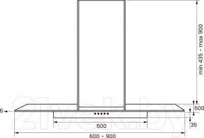 Вытяжка Т-образная Kuppersberg Lora 90 X 4HPB