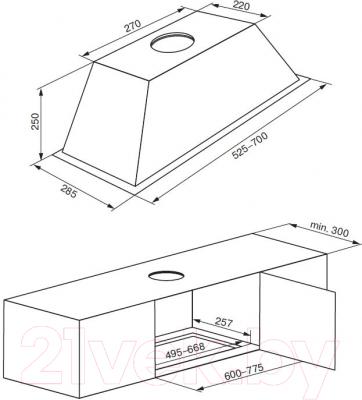 Вытяжка скрытая Kuppersberg Inlinea 70 X HPB
