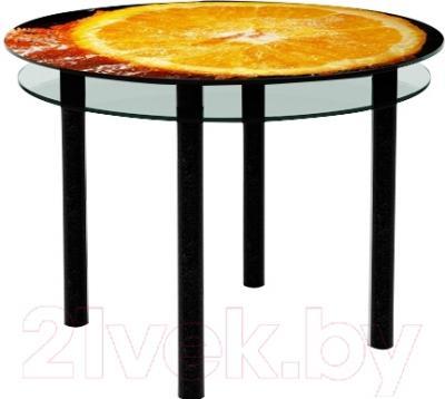 Обеденный стол Artglass Ringo Tale Апельсин (черный)