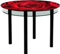 Обеденный стол Artglass Ringo Tale Розы (черный) -