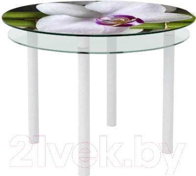 Обеденный стол Artglass Ringo Tale Орхидея белая (белый)