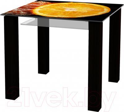 Обеденный стол Artglass Palermo 90 Апельсин (черный)