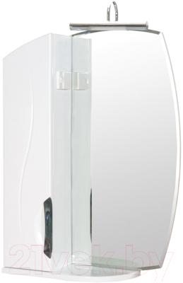 Шкаф с зеркалом для ванной Аква Родос Глория ZGLP55L