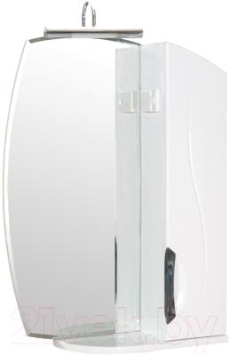 Шкаф с зеркалом для ванной Аква Родос Глория ZGLP55R