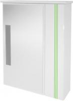 Шкаф с зеркалом для ванной Ванланд Квадро Кз 2-60 (зеленый) -