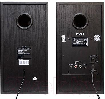 Мультимедиа акустика Dialog W-204 (черный)