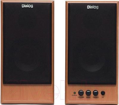Мультимедиа акустика Dialog W-204 (вишня)