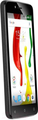 Смартфон Fly Nimbus 7 / FS505 (черный/зеленый)