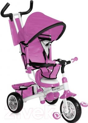Детский велосипед с ручкой Bertoni B302A (розовый/белый)