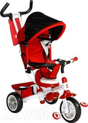 Детский велосипед с ручкой Bertoni B302A (красный/белый)