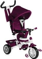 Детский велосипед с ручкой Bertoni B302A (фиолетовый/белый) -