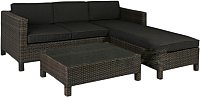 Комплект садовой мебели Garden4you Queens 12907 (темно-коричневый) -