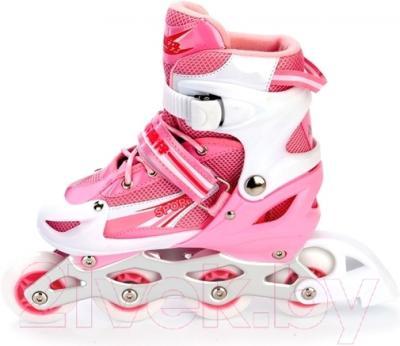 Роликовые коньки Bradex DE 0098 (L, розовый)