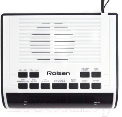 Радиочасы Rolsen CR-100W (белый)