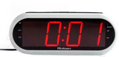 Радиочасы Rolsen CR-130W (белый)