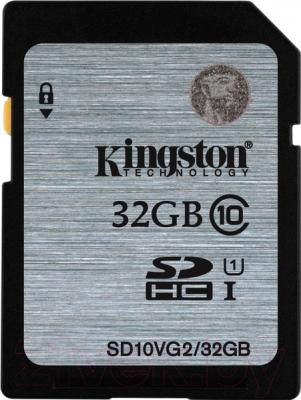 Карта памяти Kingston SDHC (Class 10) 32GB (SD10VG2/32GB)
