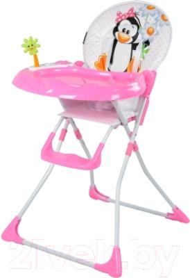 Стульчик для кормления Lorelli Jolly Pink Penguin (10100081620)