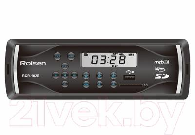 Бездисковая автомагнитола Rolsen RCR-102B
