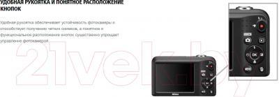 Компактный фотоаппарат Nikon Coolpix A10 (красный)