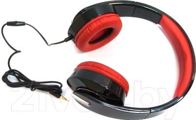 Наушники-гарнитура Nakatomi HS-T61M (черный/красный)