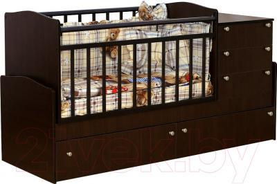 Детская кровать-трансформер Daka Baby Укачайка 04 (венге)