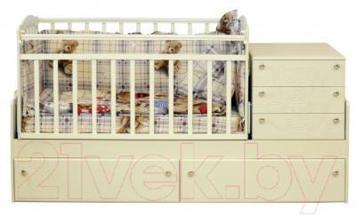 Детская кровать-трансформер Daka Baby Укачайка 04 (ваниль)