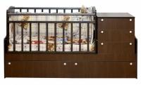 Детская кровать-трансформер Daka Baby Укачайка 04 (орех) -
