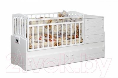 Детская кровать-трансформер Daka Baby Укачайка 05 (белый)